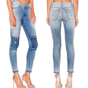•Hudson• Suzzi Skinny Jeans Released Hem Patches